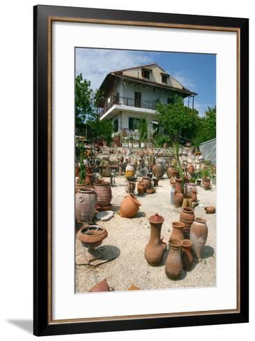 Pottery Karavomilos, Kefalonia, Greece-Peter Thompson-Framed Art Print