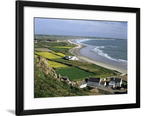 St Ouens Bay from Mont Du Vallet, Jersey, Channel Islands-Peter Thompson-Framed Art Print