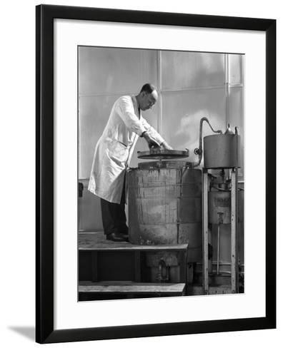 Vacuum Absorbtion Chamber, Edgar Allen Steel Co, Sheffield, South Yorkshire, 1962-Michael Walters-Framed Art Print