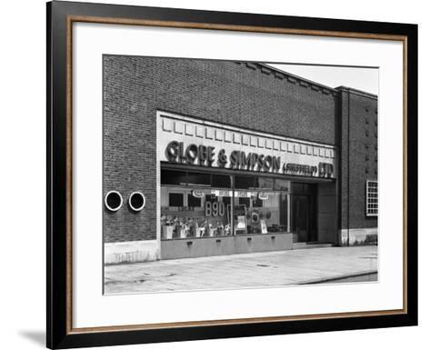 Globe and Simpson Shop Window, Nottingham, Nottinghamshire, 1961-Michael Walters-Framed Art Print
