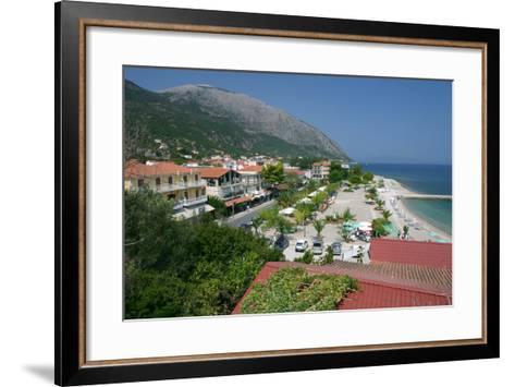 Seafront at Poros, Kefalonia, Greece-Peter Thompson-Framed Art Print