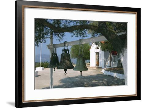Bells from Old Bell Tower, Monastery of Agrilion, Kefalonia, Greece-Peter Thompson-Framed Art Print