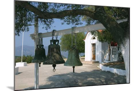 Bells from Old Bell Tower, Monastery of Agrilion, Kefalonia, Greece-Peter Thompson-Mounted Photographic Print