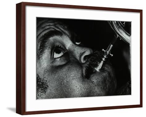 American Trumpet and Flugelhorn Player Art Farmer at the Bell, Codicote, Hertfordshire, 1983-Denis Williams-Framed Art Print