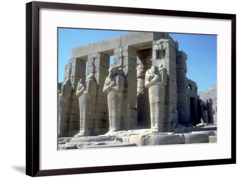Colossal Statues of Rameses Ii, the Ramesseum, Temple of Rameses Ii, Luxor, Egypt, C1300 Bc-CM Dixon-Framed Art Print