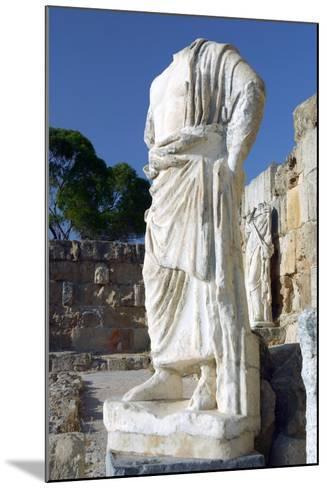 Headless Statue, Roman Gymnasium, Salamis, North Cyprus-Peter Thompson-Mounted Photographic Print