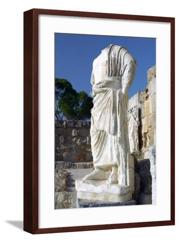 Headless Statue, Roman Gymnasium, Salamis, North Cyprus-Peter Thompson-Framed Art Print