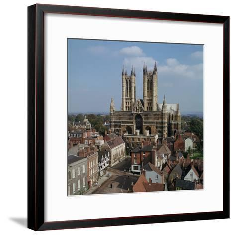 Lincoln Cathedral from the West-CM Dixon-Framed Art Print