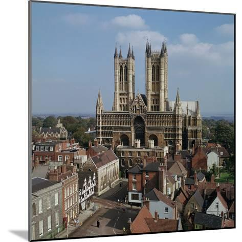 Lincoln Cathedral from the West-CM Dixon-Mounted Photographic Print