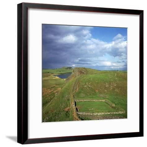 Hadrians Wall, Looking East to Milecastle, 2nd Century-CM Dixon-Framed Art Print
