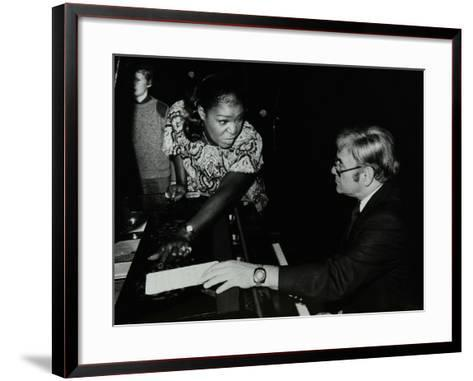 Singer Carrie Smith with Her Pianist Lou Stein, Forum Theatre, Hatfield, Hertfordshire, 1978-Denis Williams-Framed Art Print