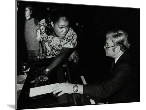 Singer Carrie Smith with Her Pianist Lou Stein, Forum Theatre, Hatfield, Hertfordshire, 1978-Denis Williams-Mounted Photographic Print