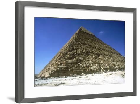 Pyramid of Khafre (Chephren), Giza, Egypt, 4th Dynasty, 26th Century Bc-CM Dixon-Framed Art Print
