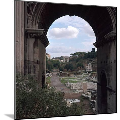 The Roman Forum and Arch of Septimus Severus, 3rd Century-CM Dixon-Mounted Photographic Print