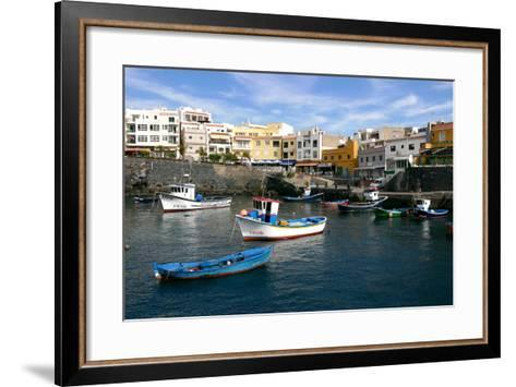 Harbour of Los Abrigos, Tenerife, Canary Islands, 2007-Peter Thompson-Framed Art Print