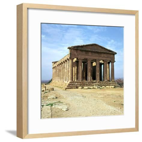 The Temple of Concord on Sicily, 5th Century-CM Dixon-Framed Art Print