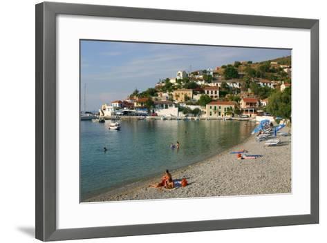 Beach, Assos, Kefalonia, Greece-Peter Thompson-Framed Art Print