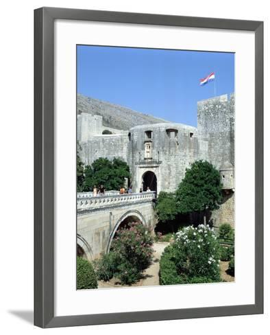 Pile Gate, Dubrovnik, Croatia-Peter Thompson-Framed Art Print