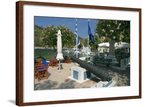 Waterfront, Assos, Kefalonia, Greece-Peter Thompson-Framed Art Print