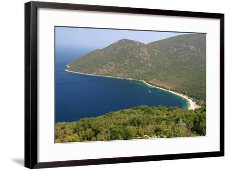 Antisamos (Captain Corellis Beach), Kefalonia, Greece-Peter Thompson-Framed Art Print