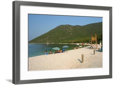 Antisamos (Captain Corellis Beach), Kefalonia, Greece-Peter Thompson-Framed Art Print