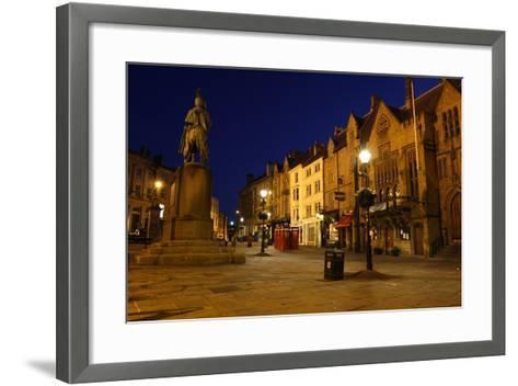 Market Place at Night, Durham-Peter Thompson-Framed Art Print
