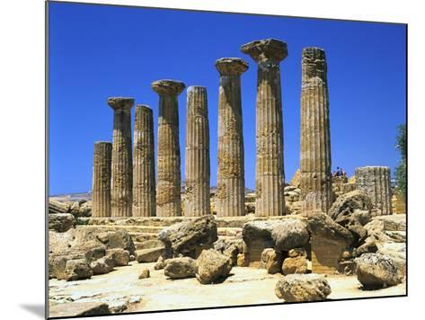Temple of Hercules, Agrigento, Sicily, Italy-Peter Thompson-Mounted Photographic Print