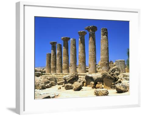 Temple of Hercules, Agrigento, Sicily, Italy-Peter Thompson-Framed Art Print