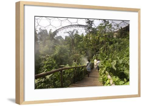 Inside the Humid Tropics Biome, Eden Project, Near St Austell, Cornwall-Peter Thompson-Framed Art Print