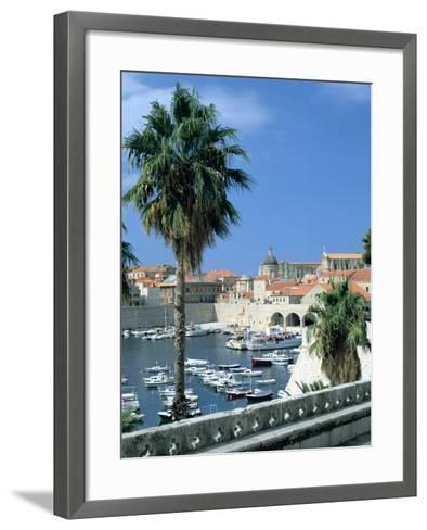 Old Harbour, Dubrovnik, Croatia-Peter Thompson-Framed Art Print