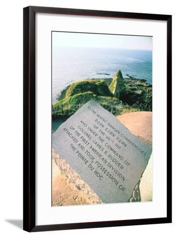 War Memorial at the Pointe Du Hoc Near Omaha Beach, Normandy, France-Peter Thompson-Framed Art Print