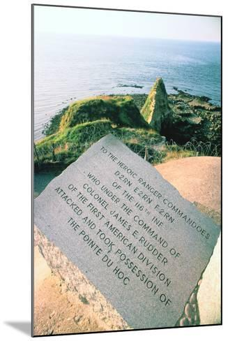 War Memorial at the Pointe Du Hoc Near Omaha Beach, Normandy, France-Peter Thompson-Mounted Photographic Print