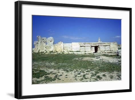 Hagar Qim Temple on Malta. (C.3000 BC)-CM Dixon-Framed Art Print