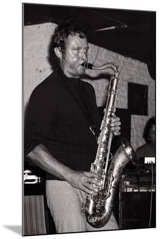 Stan Getz, Ronnie Scotts, London, 1971-Brian O'Connor-Mounted Photographic Print