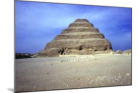 Distant View of the Step Pyramid of King Djoser (Zozer), Saqqara, Egypt, 3rd Dynasty, C2600 Bc- Imhotep-Mounted Photographic Print