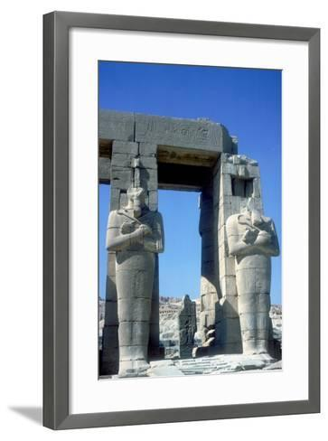 Two Statues at the Ramesseum, Temple of Rameses Ii, Luxor, Egypt, C1250 Bc-CM Dixon-Framed Art Print