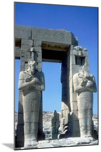 Two Statues at the Ramesseum, Temple of Rameses Ii, Luxor, Egypt, C1250 Bc-CM Dixon-Mounted Photographic Print