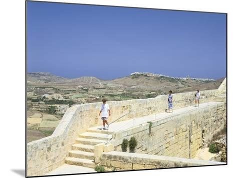 The Path around the Walls of the Citadel, Victoria, Gozo, Malta-Peter Thompson-Mounted Photographic Print
