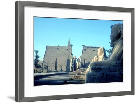 Temple Sacred to Amun Mut and Khons (Khonsu), Luxor, Egypt-CM Dixon-Framed Art Print