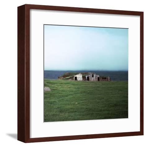 Old Viking-Style Icelandic Turf Farm-CM Dixon-Framed Art Print