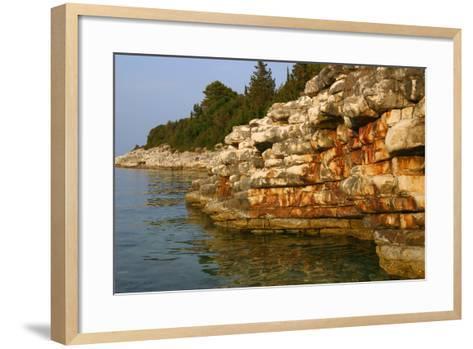Rock Formations, Kefalonia, Greece-Peter Thompson-Framed Art Print