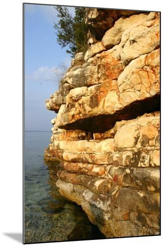 Rock Formations, Kefalonia, Greece-Peter Thompson-Mounted Photographic Print