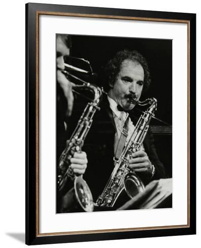 Saxophonist Frank Tiberi Performing at the Forum Theatre, Hatfield, Hertfordshire, 1983-Denis Williams-Framed Art Print