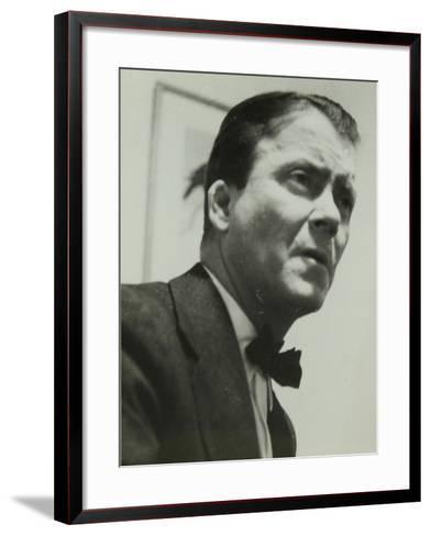 Portrait of American Guitarist an Banjo Player Eddie Condon, 1950S-Denis Williams-Framed Art Print