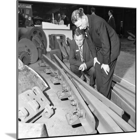 Inspecting a Tram Junction Made at the Edgar Allen Steel Foundry, Meadowhall, Sheffield, 1962-Michael Walters-Mounted Photographic Print
