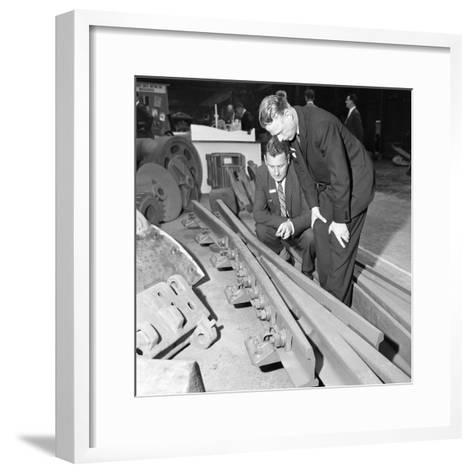 Inspecting a Tram Junction Made at the Edgar Allen Steel Foundry, Meadowhall, Sheffield, 1962-Michael Walters-Framed Art Print