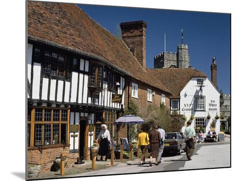 Village Square, Chilham, Kent-Peter Thompson-Mounted Photographic Print