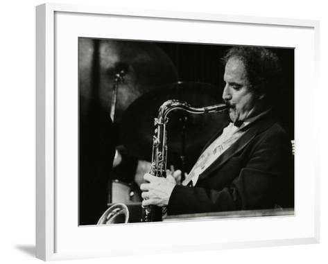 Saxophonist Frank Tiberi Performing at the Forum Theatre, Hatfield, Hertfordshire, 1983-Denis Williams-Framed Art Print