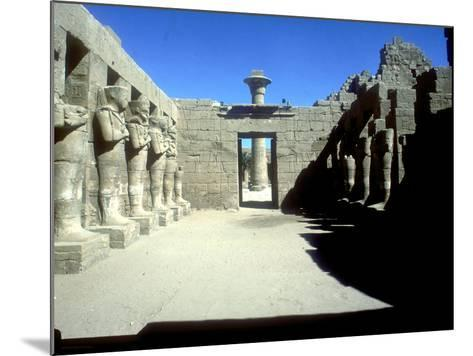 Court of Rameses III with Statues of Osiris, Temple of Amun, Karnak, Egypt, C12th Century Bc-CM Dixon-Mounted Photographic Print