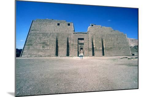 Mortuary Temple of Rameses III at Medinat Habu, Luxor, Egypt, 20th Dynasty, C12th Century Bc-CM Dixon-Mounted Photographic Print
